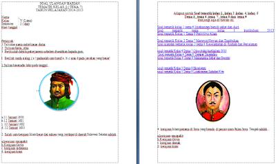 Download Soal Tematik Kelas 5 SD