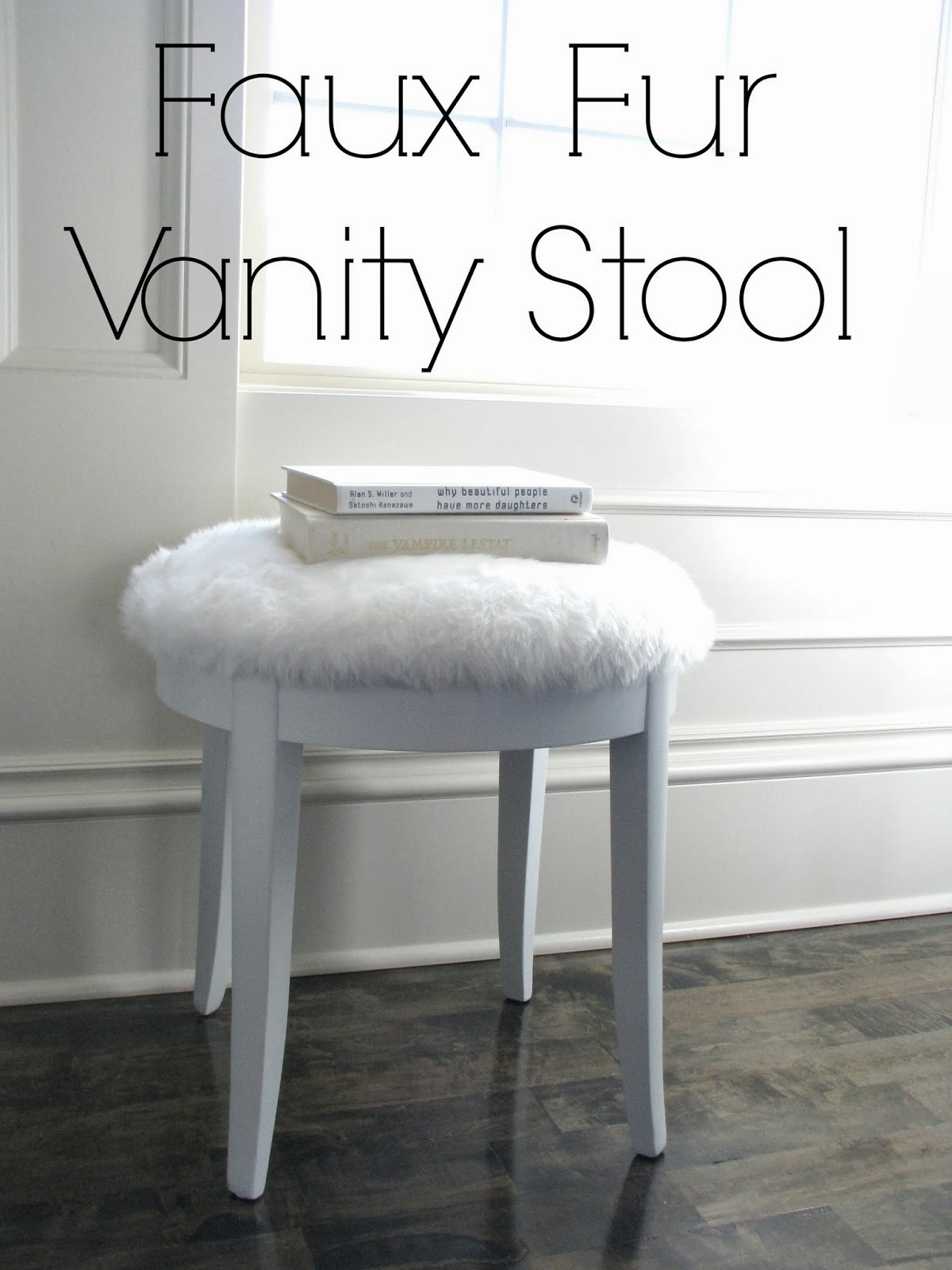 Faux Fur Vanity Stool