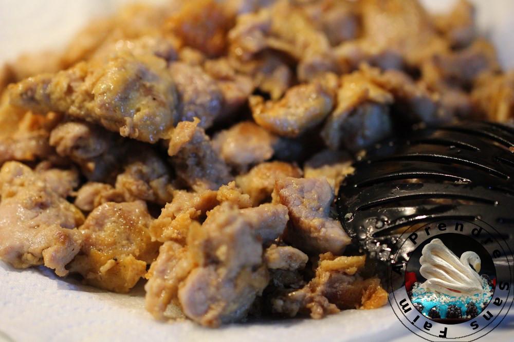 Porc à la sauce aigre-douce - Gulao ro (pas à pas en photos)