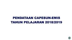 Cara Pendataan Ujian Nasional Madrasah Melalui EMIS CAPESUN  tahun 2019