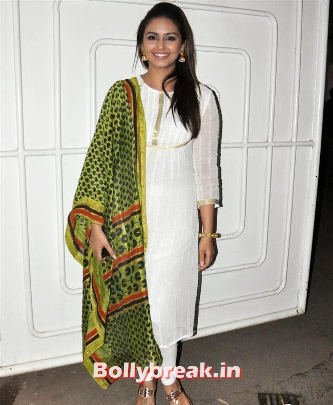 Huma Qureshi, Huma Qureshi with her Bro Saqeeb at Dedh Ishqiya Special Screening