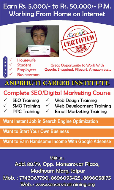 SEO course training Institute In Sikar