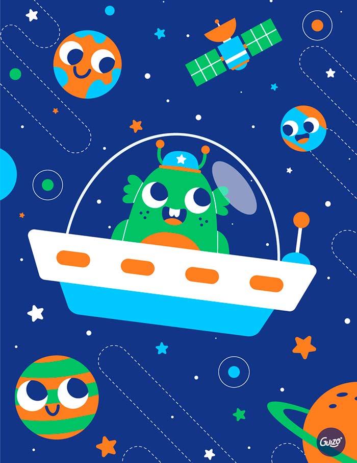 Ilustración, Space Explorers de Luis Guizado