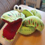 patron gratis serpiente amigurumi | free amigurumi pattern snake