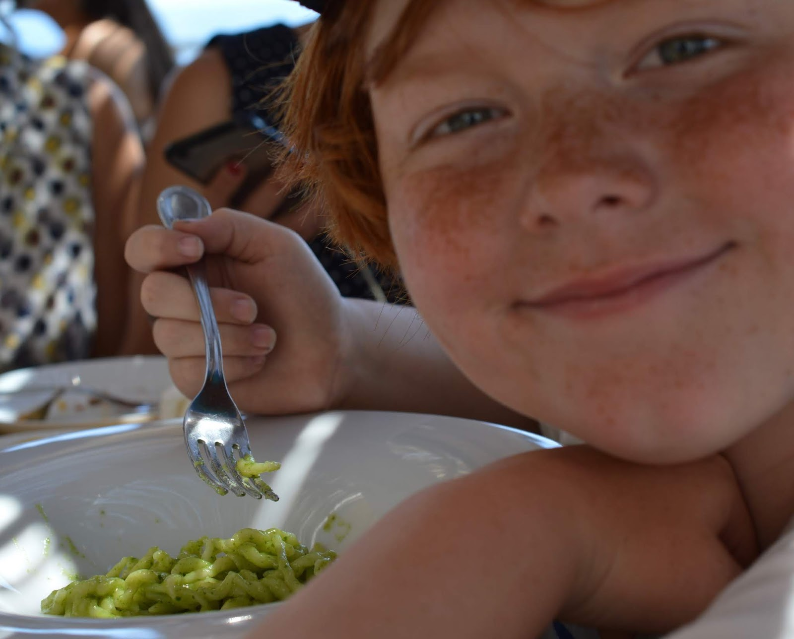 How to spend a weekend in Genoa with kids -Dining with kids and child-friendly restaurants in Genoa (pesto pasta)