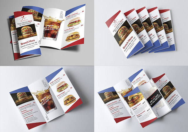 Design of open PSD brochures ready for modification