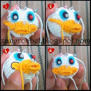 Donald Duck Zan Crochet