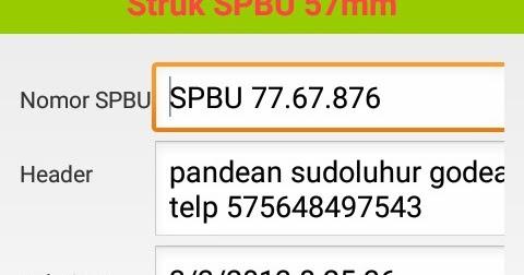 Sambilan Praktisi It Struk Spbu 57mm Apk