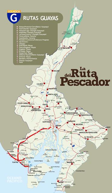 mapa - Guayaquil Turismo Ecuador – Turismo en Guayas Ruta del Pesacador