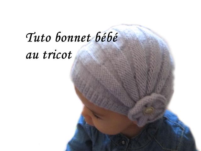 Les tutos de fadinou tuto bonnet bebe style charleston au tricot - Modele de bonnet a tricoter facile ...