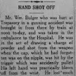 Hand Shot Off - News from Trepassey, 1918. #NLunexplained #NaNonFiWriMo