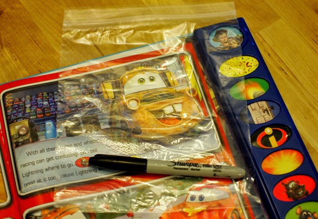 Add  Disney Characters to snack bags using this easy method.  Kids can do it too!