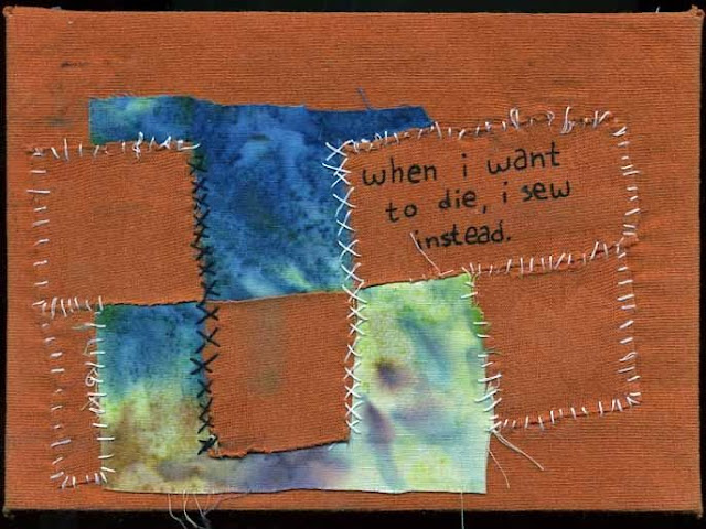 PostSecret: when i want to die i sew instead