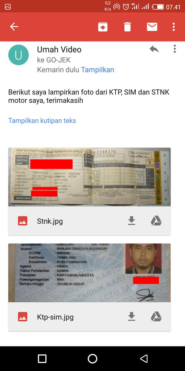 Ganti Plat Nomor Kendaraan Go-jek Tanpa ke Kantor