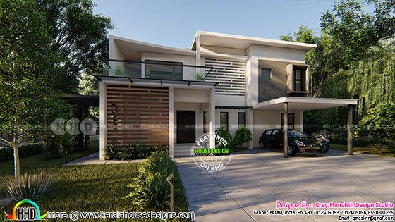 2418 square feet 4 bedroom flat roof house