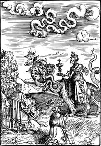 Imagen de varias personas contemplando a la muerte
