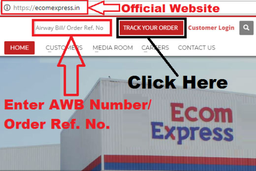 how to track ecom express courier
