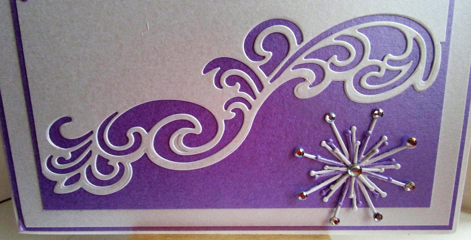 lizzies craft space die cut christmas card  purple