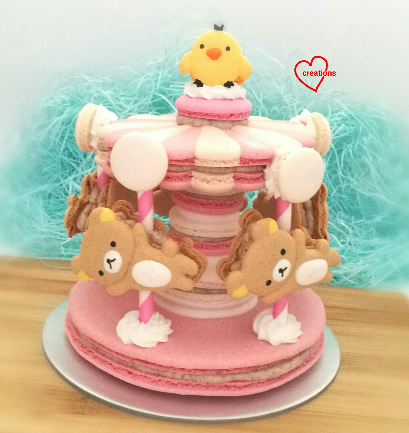 Christ And Have Always So Encouraging Requested This For Her Daughters Birthday Presenting My Sweet Girly Rilakkuma Kiiroitori Macaron Carousel