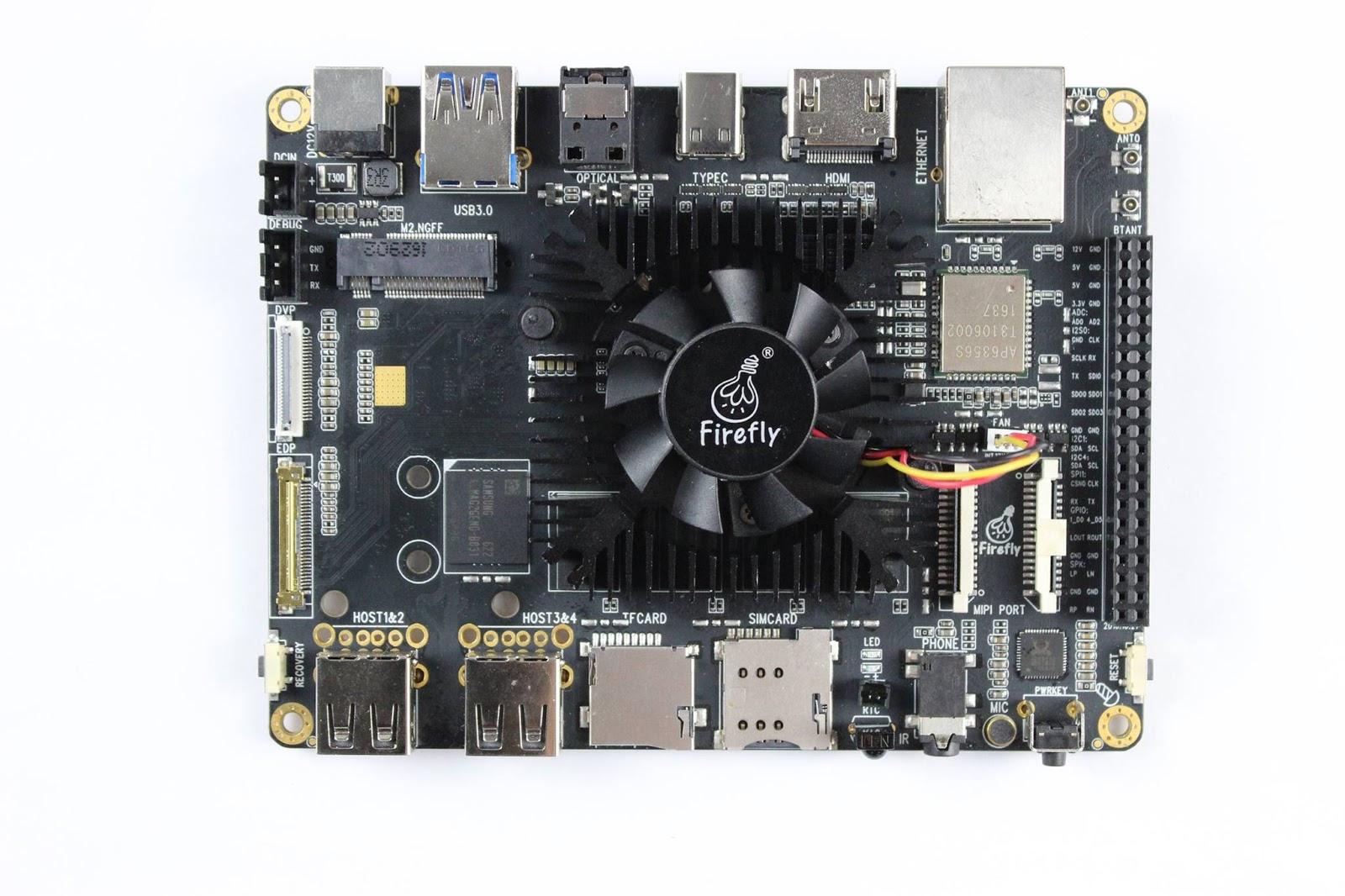 Firefly-RK3399 armv8 64 Bit development board running MaliT860 GPU