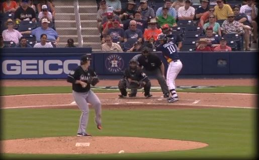 Yulieski, quien se adapta a la primera base, fletó una carrera en la derrota de los Astros 9-5 frente a los Marlins