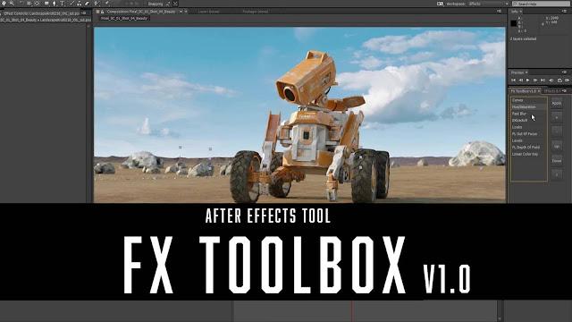 الاضافة FX ToolBox لتعامل مع لوحة التأثيرات الافتر افكت