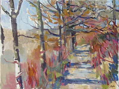 path in winter - cornus - pianting