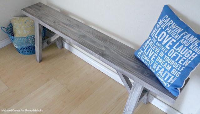 How to finish a farmhouse bench