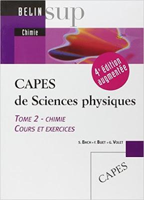 Télécharger Livre Gratuit CAPES de Sciences physiques - Tomes 1 & 2, Chimie, cours et exercices pdf