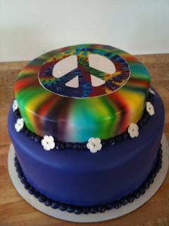 Hector S Custom Cakes Peace Sign Birthday Cake Fondant
