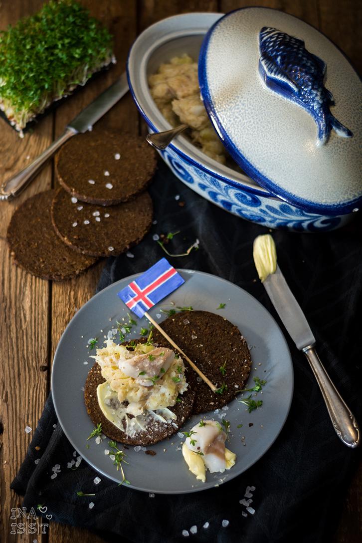 Isländischer Plokkfiskur - Stampfkartoffeln mit Kabeljau