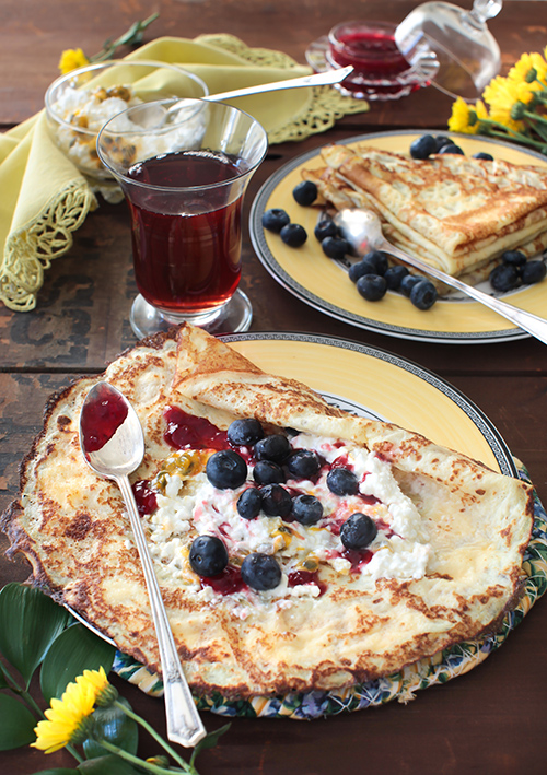 "Crepes%2B3 - ""Blini"" - Vanilla Crepes with Berries"