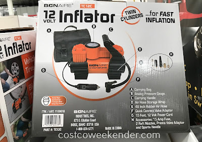 Costco 1109618 - Bon-Aire 12 Volt Inflator TC12C: great for quickly inflating sports balls