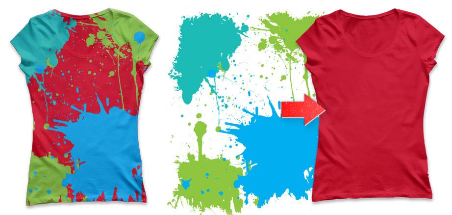 Ladies T-Shirt Mockup Template