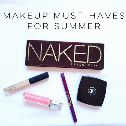 make up must haves summer guest post beauty bblogger blogger naked urban decay palette nars creamy concealer chanel
