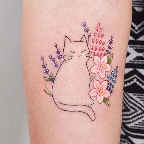 kedi dövmeleri cat tattoos 41