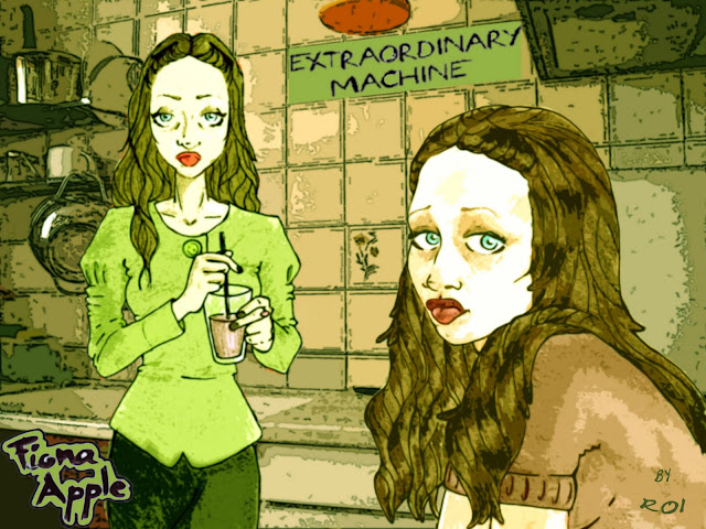 "Fiona Apple en ""Extraordinary Machine"". Ilustración de Roi Pardo"