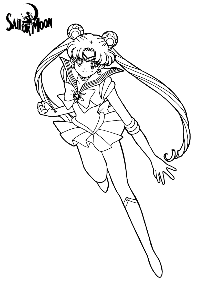 Sailor moon coloring pages for kids free printable | coloing-4kids.com | 1120x800
