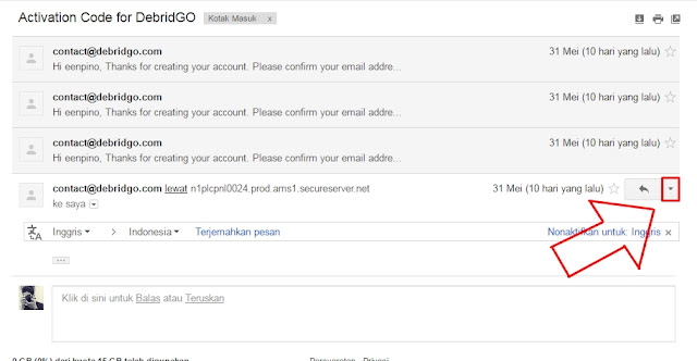 CAra memblokir alamat email gmail