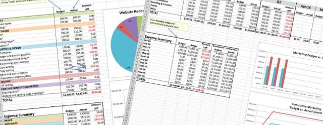 Budget templates freebie