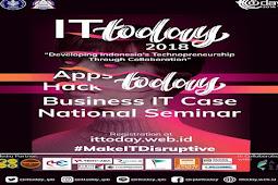 "Himpunan Mahasiswa Ilmu Komputer IPB Presents IT TODAY IPB 2018 ""Developing Indonesia's Technopreneurship Through Collaboration"""