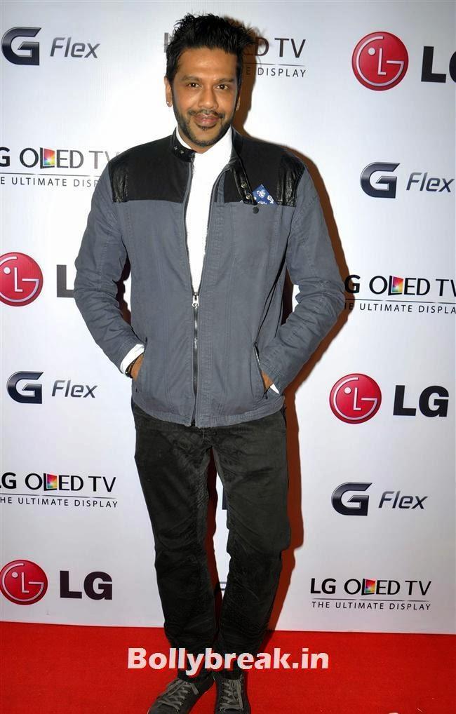 Rocky S, Celebs at LG G Flex Smartphone Launch