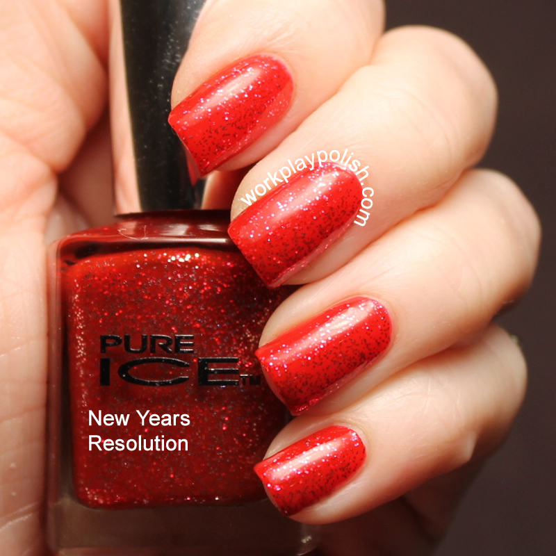 Pure Ice New Year's Resolution Swatch (work / play / polish)