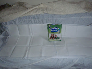 onequartermama Huggies Good Nites Disposable Bed Mats at work