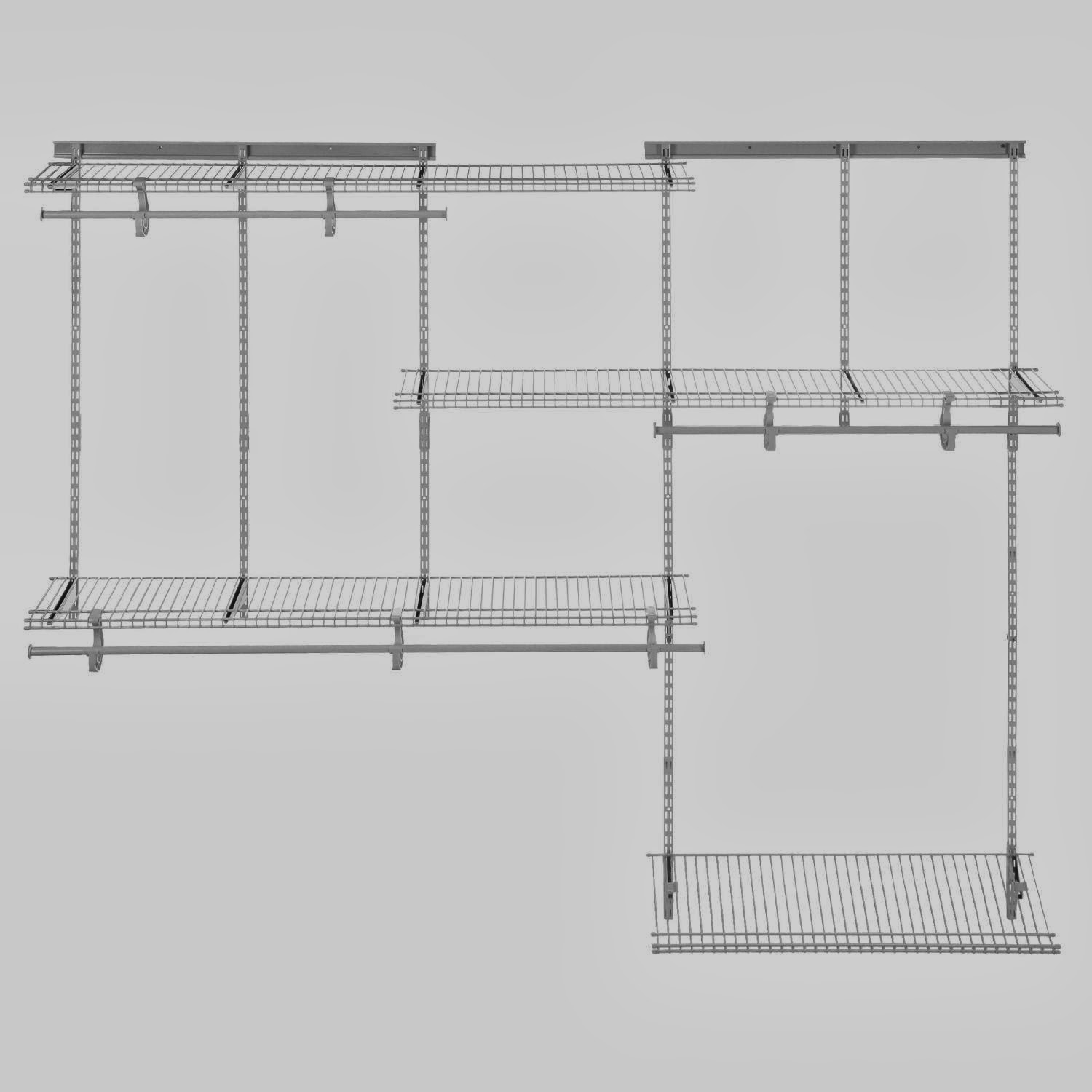 ClosetMaid 5u0027 To 8u0027 Adjustable Shelf Track