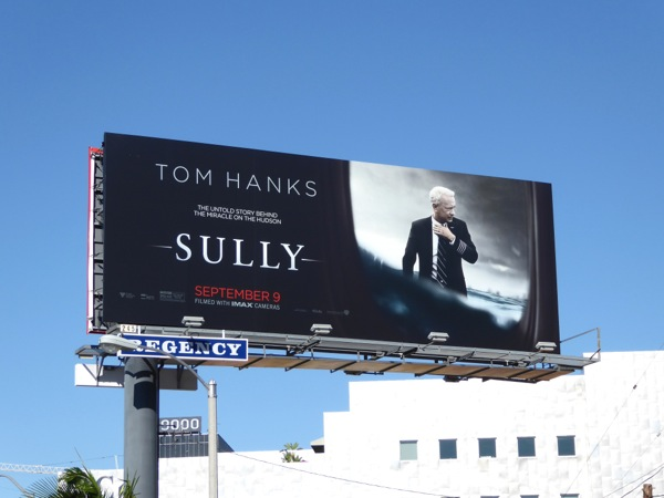Tom Hanks Sully film billboard