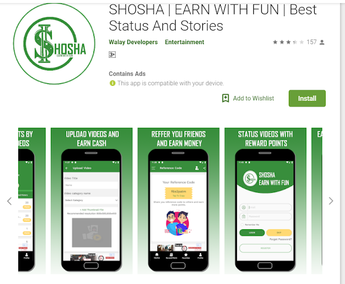 SHOSHA APP | Earning with fun | Best status and stories app