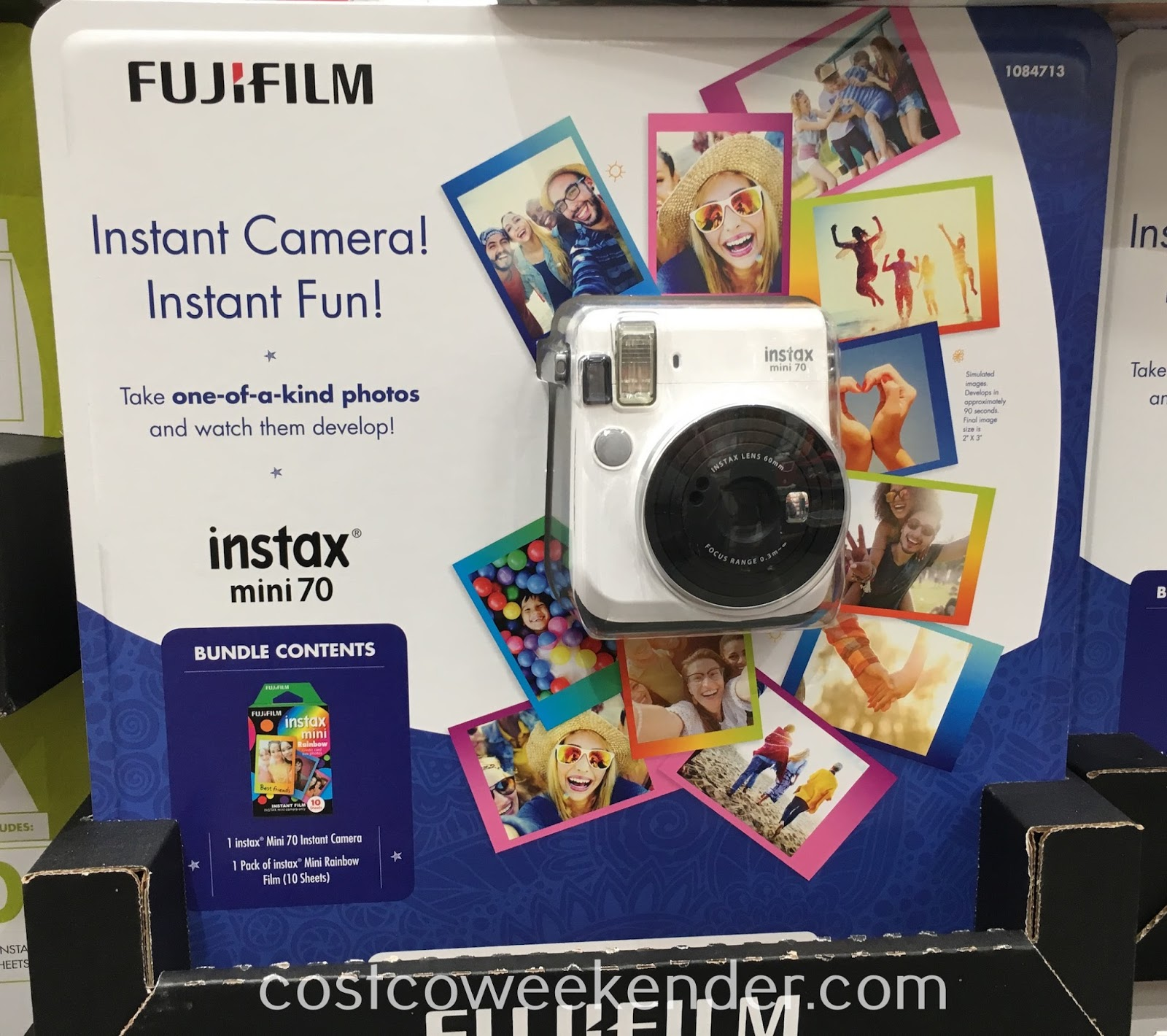 Get pics developed on the spot with the Fuji instax Mini 70 Instant Camera