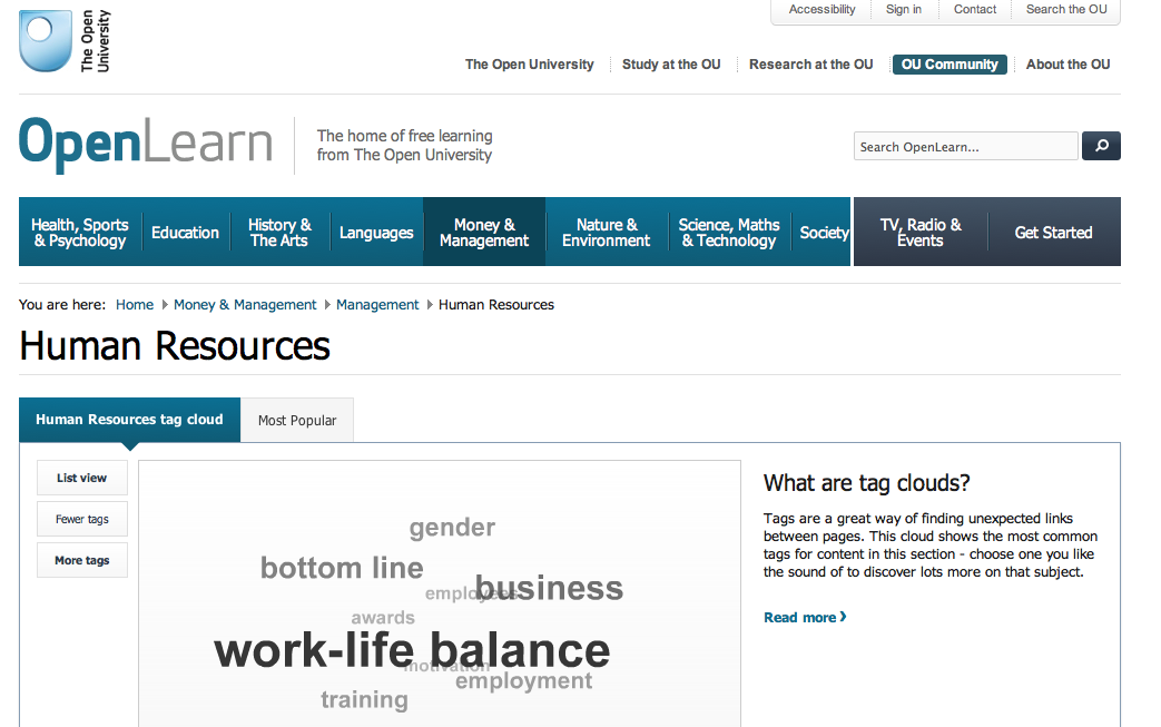 OpenLearn / Human Resources