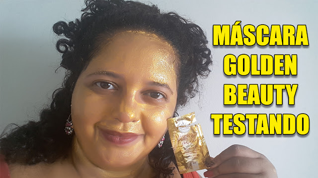 testando máscara golden da new beauty lu tudo sobre tudo